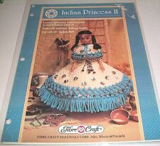 FIBRE CRAFT 1993 INDIAN PRINCESS II - 15 INCH CROCHET PATTERN OOP 355