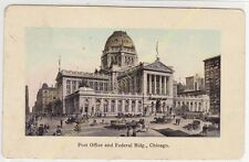 Old Postcard USA Post Office & Federal Bldg CHICAGO Edit SUHLING COMPANY ca1910