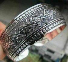 Hand Made New Tibetan Tibet Silver Totem Bangle Cuff Bracelet & gift aways added