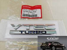 VTEC TURBO CIVIC 5Door HONDA Decal Emblem LOGO Badge JDM GENUINE PARTS Rear