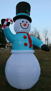 New Giant Airblown Inflatable 12' Snowman  Gemmy Christmas Yard Frosty Blow Up