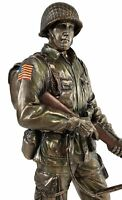 11 inch US Army Honor and Courage Soldier Statue Bronze Color