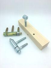 Bohrlehre für Türband 20 mm 3 Teilig Bohrschablone Einbohrband Einbohrschablone