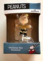 Hallmark Peanuts Christmas Charlie Brown Ice Skating Ornament NEW