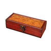 1PC Retro Treasure Chest Wooden Jewelry Trinket Storage Box Case Holder Vintage