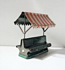 Banc de gare en tôle lithographiée jouet ancien lithographed Tin Railway bench