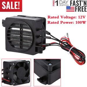 Mini 100W 12V DC PTC Fan Air Heater Constant Temperature Incubator Low Noise US