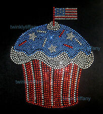 "HOTFIX RHINESTONES IRON ON HEAT TRANSFER ""4th of July Cupcake"""
