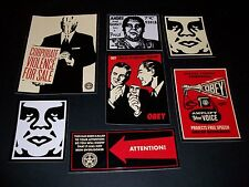 SHEPARD FAIREY OBEY GIANT Sticker set 3 - Corporate Violence, Obedience Problems