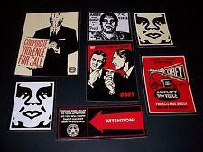 Shepard Fairey Obey gigante etiqueta de conjunto 3-problemas de violencia corporativa, obediencia
