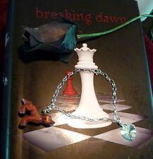 Twilight inspired silver graduation bracelet, wooden wolf.