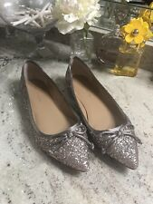 BANANA REPUBLIC Glitter Pointy Toe Ballet Flats US 9 Sparkle Gold