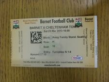 23/03/2013 Ticket: Barnet v Cheltenham Town  . Thanks for viewing our item.  Any