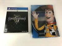 New & Sealed Kingdom Hearts 3 III Deluxe Edition for PS4 w/ Promo Cloth Poster