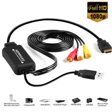 HDMI RCA cable macho a 3RCA/AV convertidor adaptador señal a analógico AV CVB
