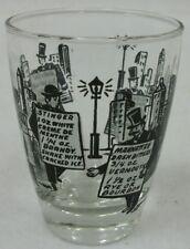 Vintage Large Cocktail Shot Glass Measure Old Fashioned Drink Recipes Bar Ware