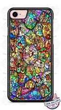 Disney Character Stained Glass Phone Case for iPhone X 8 PLUS Samsung Google etc