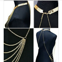 Gorgeous Women's Hot Waist  Bikini Gold Tassel Chain Fancy Body Necklace Cute