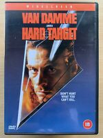 Hard Target DVD 1993 Uncut European Version Action Movie Classic 1st UK Release