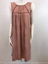Liz Lange Maternity Large Brown Tie Dye Sleeveless Rayon Knee Length Dress B2