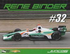 "2018 Rene Binder Juncos Racing ""2nd issued"" Chevy Dallara Indy Car postcard"