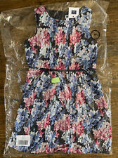 NEW Janie and Jack Girl's Kid Dress Lined 10 years yrs Flowers Retailed $80 NWT