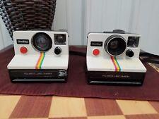 Vintage Polaroid One Step Land Camera SX-70 Rainbow Stripe Instant Film Lot of 2
