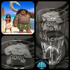 Personalised Disney Maui Pint Glass Handmade Beer Gift Free Name Engraved Moana