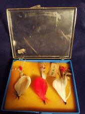 6 Vintage feather lures made in Japan