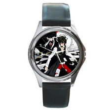 Monochrome Factor Children boy girl mens womens unisex  leather wrist watch