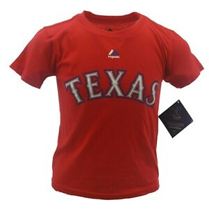 Texas Rangers MLB Majestic Children's Youth Kids Size Andrus T-Shirt New Tags