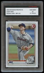 CASEY MIZE 2020 BOWMAN PROSPECTS Topps 1ST GRADED 10 ROOKIE CARD DETROIT TIGERS