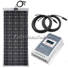 Lensun 100W 12V Flexible Solar Panel Kit, 10A LCD MPPT Regulator, 5M Cables
