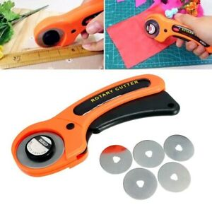 6pcs 1 Rotary Cutter + 5 Blades Cutting Sewing Quilting Fabric Craft Tool GB