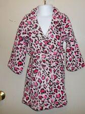 The Children's Place Girls Fleece Wrap Cheetah Print Robe Pink XXS/2-3 NWT