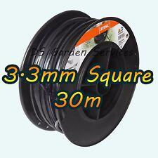 30 M Original Stihl 3.3 mm cuadrado de Desbrozadora Cortadora Cortadora Cable de línea de alambre