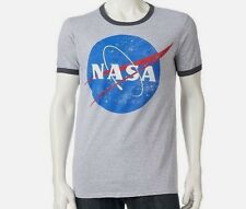 NASA Space Program Official Logo Ringer T Shirt_ Size XL_ New with tags