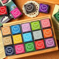 20 Colors Teacher Rubber Stamp Craft Ink Pad Wood Fabric Wedding Finger Paint