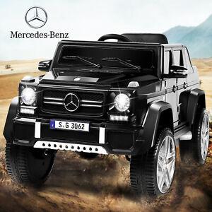 12V Kids Mercedes Benz Black Ride On Car 4 Speeds LED Lights Remote Control MP3