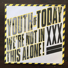 YOUTH OF TODAY We're Not In This Alone LP German Funhouse Shelter Ray Cappo 1988