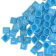 200 BLUE PLASTIC Scrabble TILES BOARD GAME LETTERS FULL SETS Art Craft Jewellery