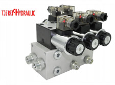 Solenoid Hydraulic Control Valve 2 Section with unloading CETOP 03 NG6 60L 12V