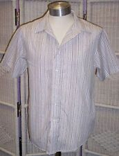 Topman Men's Striped Collared Casual Shirts & Tops