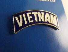 "BRAND NEW Lapel Pin VIETNAM Tab White & Blue Enamel 1 1/8"""