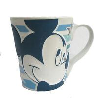 "Disney Store Blue Mickey Mouse Large Coffee Tea Mug Cup 4 1/2"" Tall"