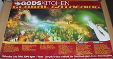 """CHICANE ARTFUL DODGER """"GODSKITCHEN"""" GLOBAL GATHERING FESTIVAL POSTER JULY 2001"""
