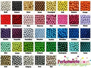 35 Perlen 12mm | Holzperlen | Rundperlen | Speichelfest | für Schnullerketten