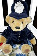 """Harrods Police Bobby Constable Teddy Bear Blue Uniform 12"""" Faded Patch on Hat"""