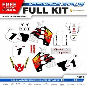 HONDA CR 500 1989 1990 1995  1998 2000 2001 MX Graphics Decals Stickers Decallab