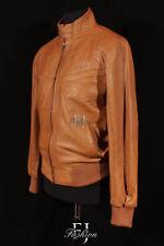 Abrigos y chaquetas de hombre Bomber de color principal marrón de piel